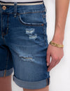 DENIM SHORTS WITH DETAILED WAIST - U.S. Polo Assn.