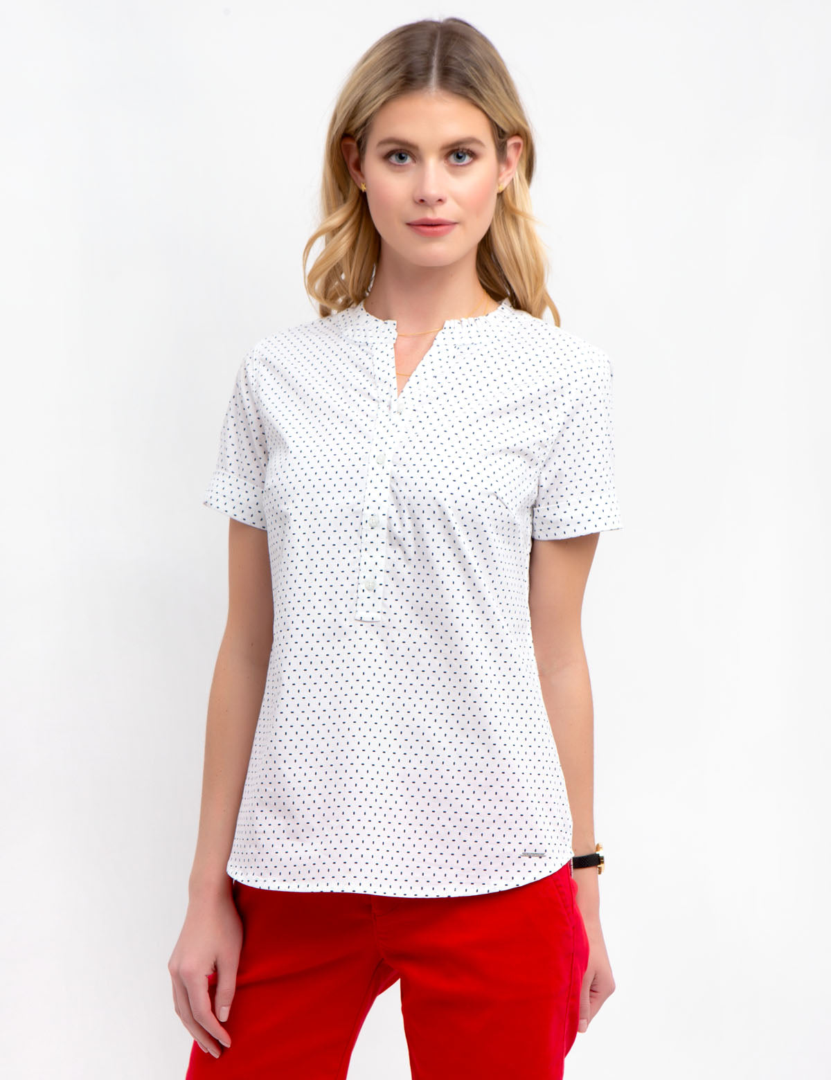RUFFLE POPOVER SHORT SLEEVE SHIRT - U.S. Polo Assn.