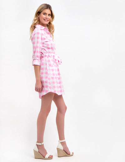 GINGHAM POPLIN DRESS - U.S. Polo Assn.