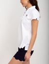 CONTRAST LACE UP POLO SHIRT