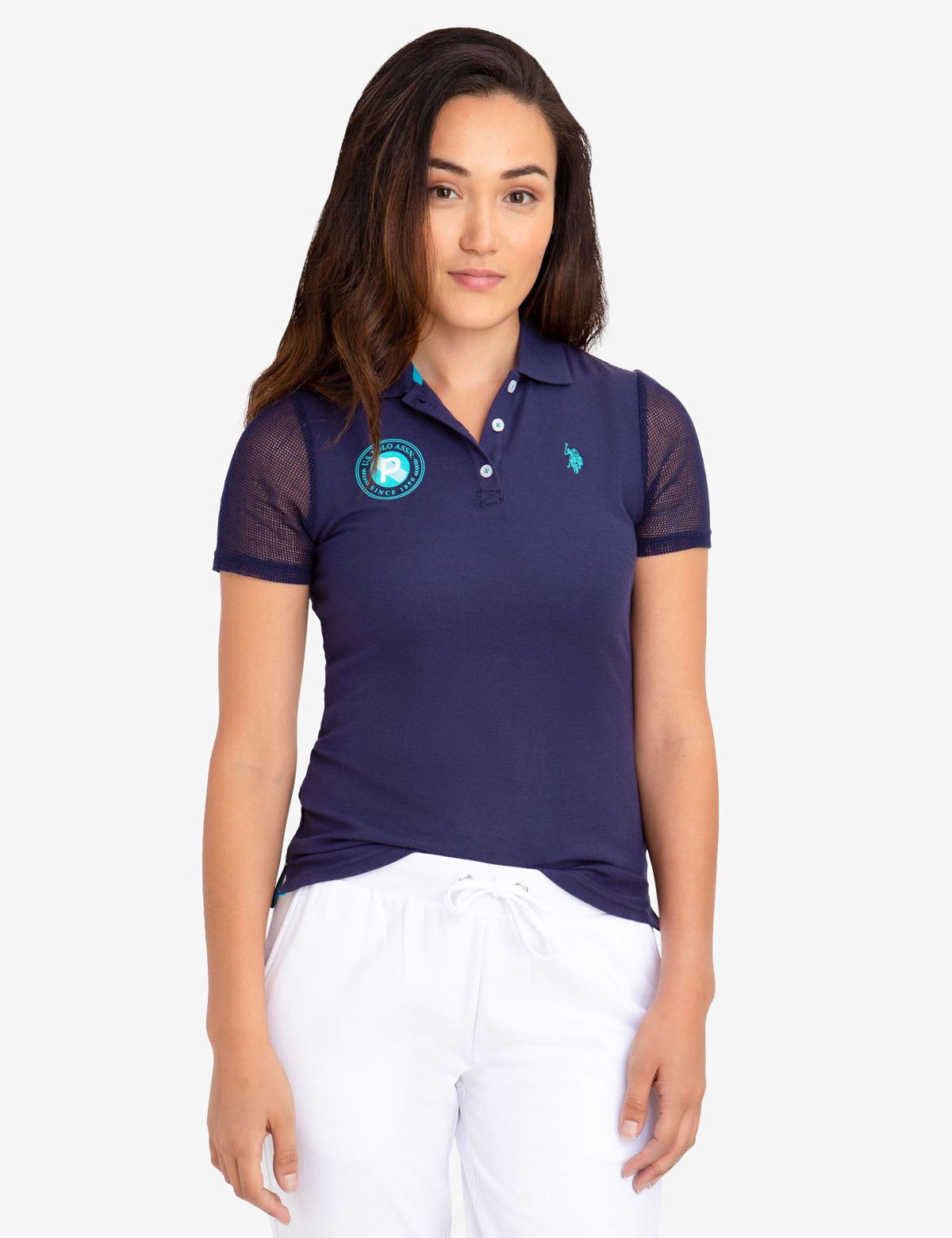 MESH SLEEVE POLO SHIRT