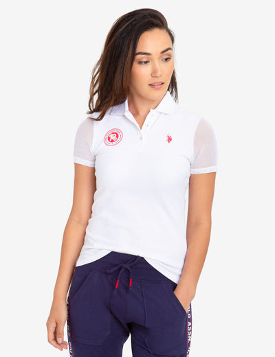 MESH SLEEVE POLO SHIRT - U.S. Polo Assn.