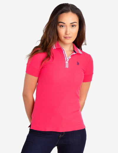 FLORAL BUTTON POLO SHIRT - U.S. Polo Assn.