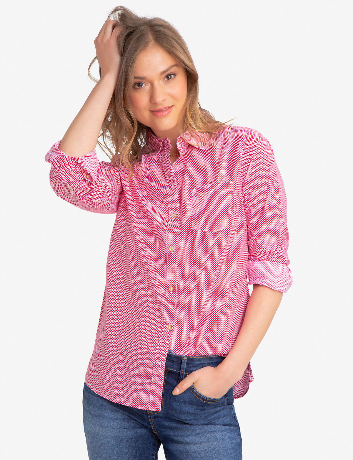 COTTON SHELL POPLIN SHIRT
