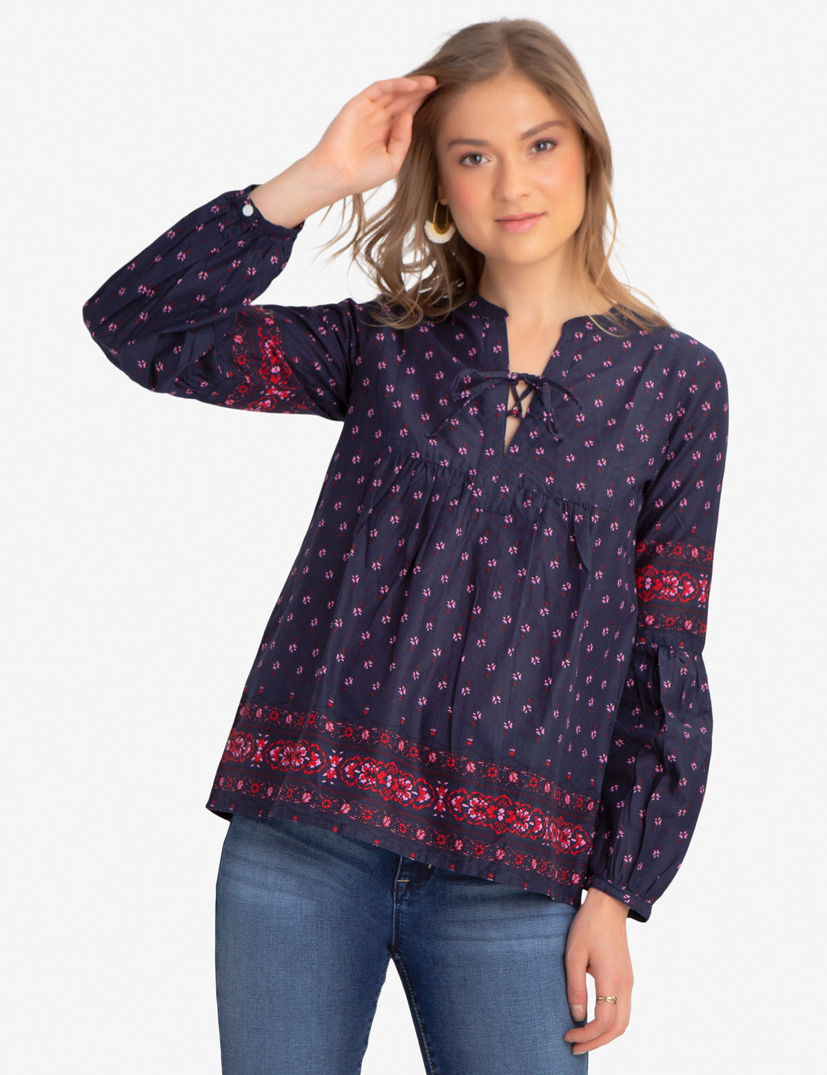PRINTED LACEUP SHIRT - U.S. Polo Assn.