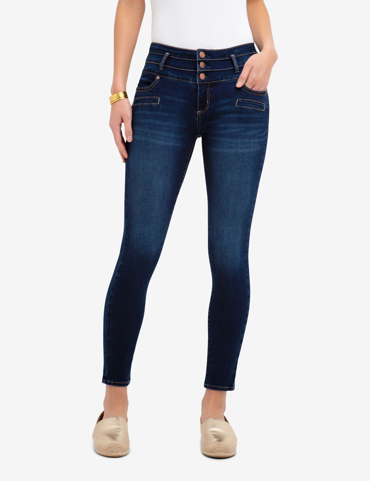 REPREVE® HIGH RISE STRETCH SUPER SKINNY JEANS