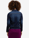DENIM JACKET WITH FRAYED DETAIL - U.S. Polo Assn.