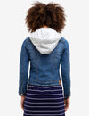 DENIM JACKET WITH DETACHABLE HOOD - U.S. Polo Assn.
