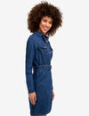 STRETCH DENIM BELTED SHIRT DRESS - U.S. Polo Assn.