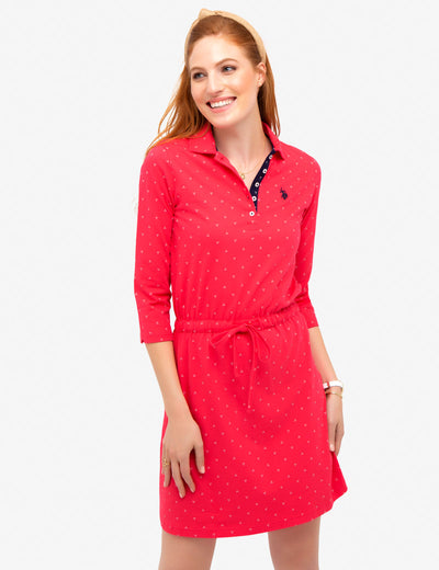 COTTON JERSEY TRI-DOT DRESS - U.S. Polo Assn.