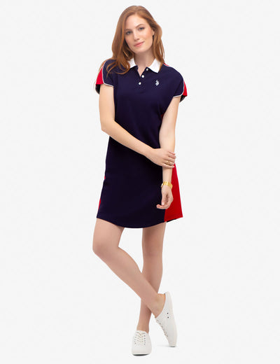 PRINCESS PANEL POLO DRESS - U.S. Polo Assn.