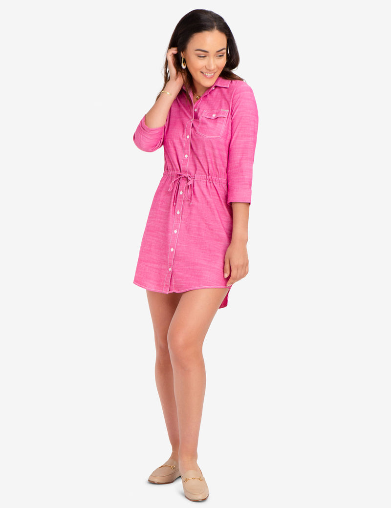 COTTON BOTTON FRONT DRESS