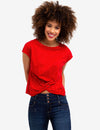 FRONT TWIST DOTTED TEE-SHIRT - U.S. Polo Assn.