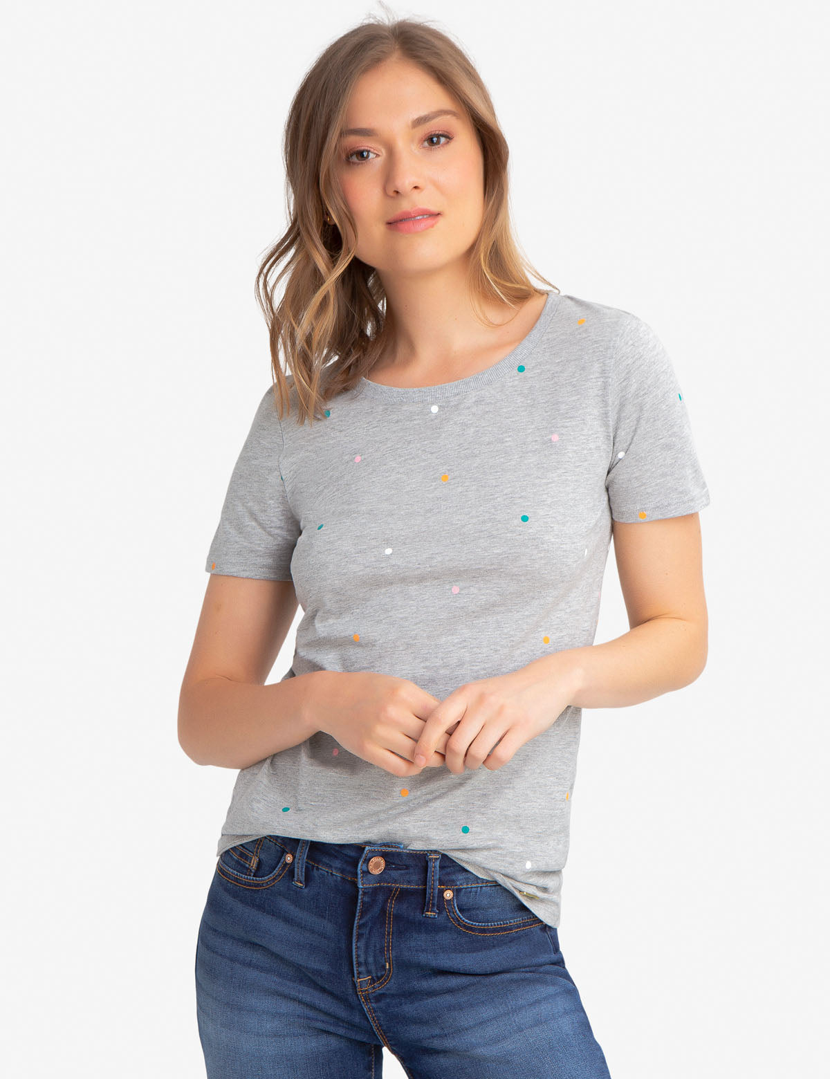 MULTI-COLOR DOT TEE-SHIRT