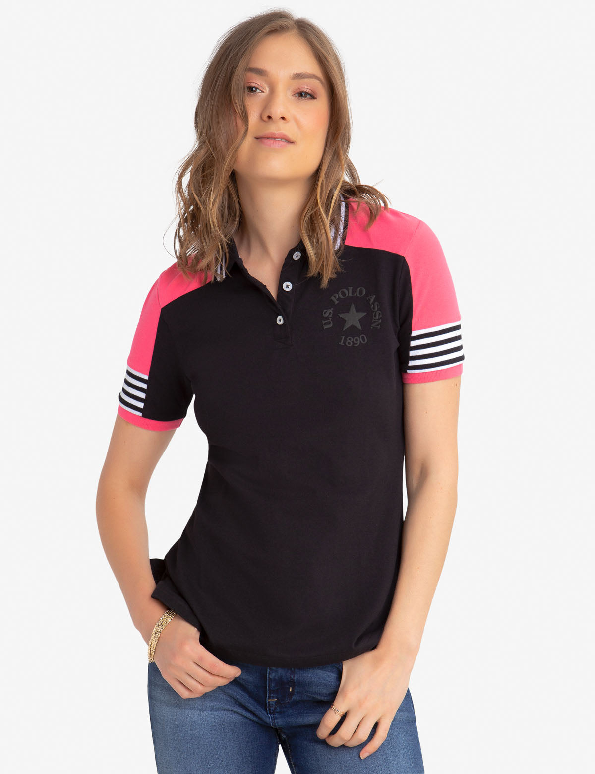 PATCH SHOULDER POLO SHIRT