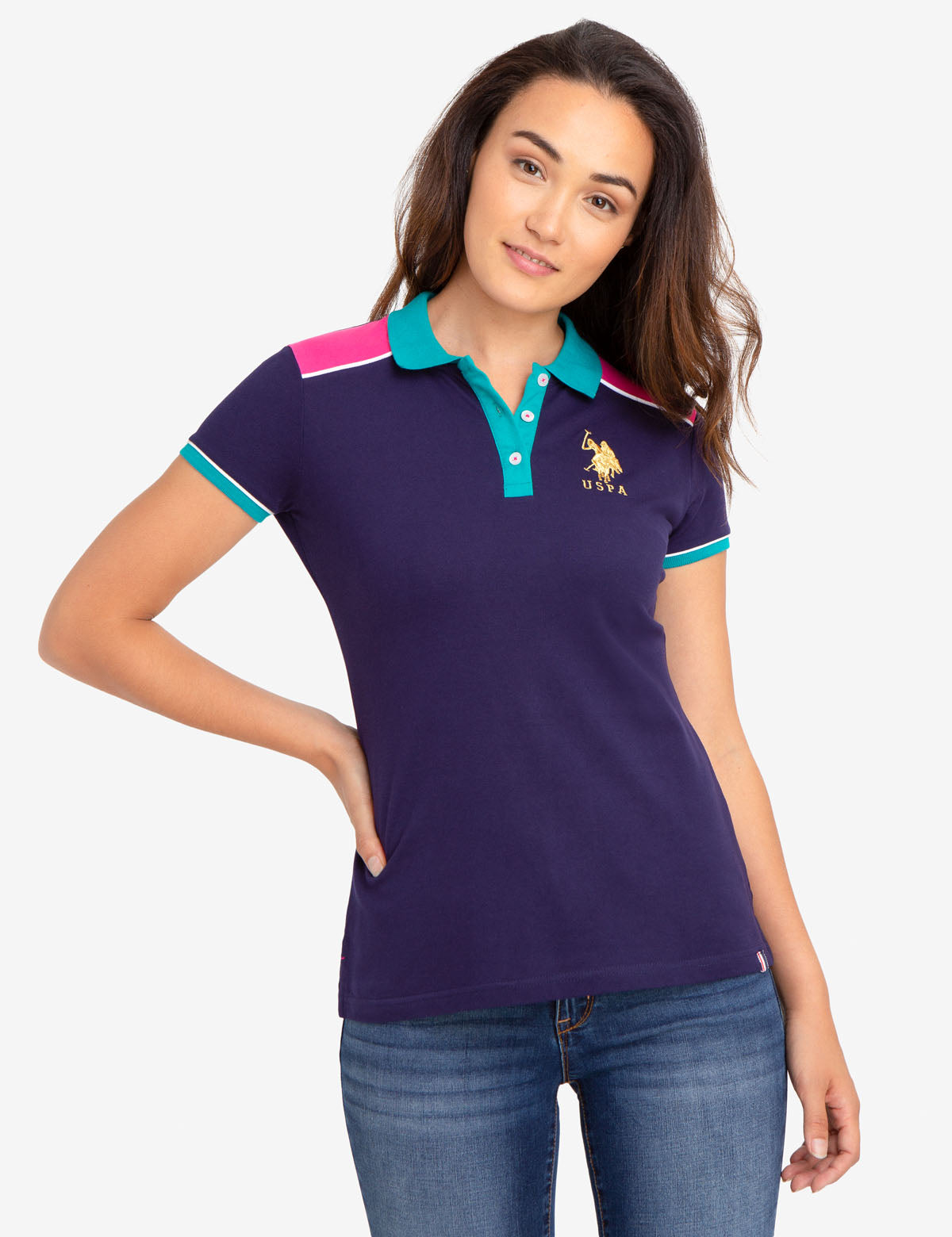 GOLD LOGO POLO SHIRT