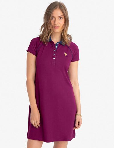 GOLD LOGO POLO DRESS - U.S. Polo Assn.