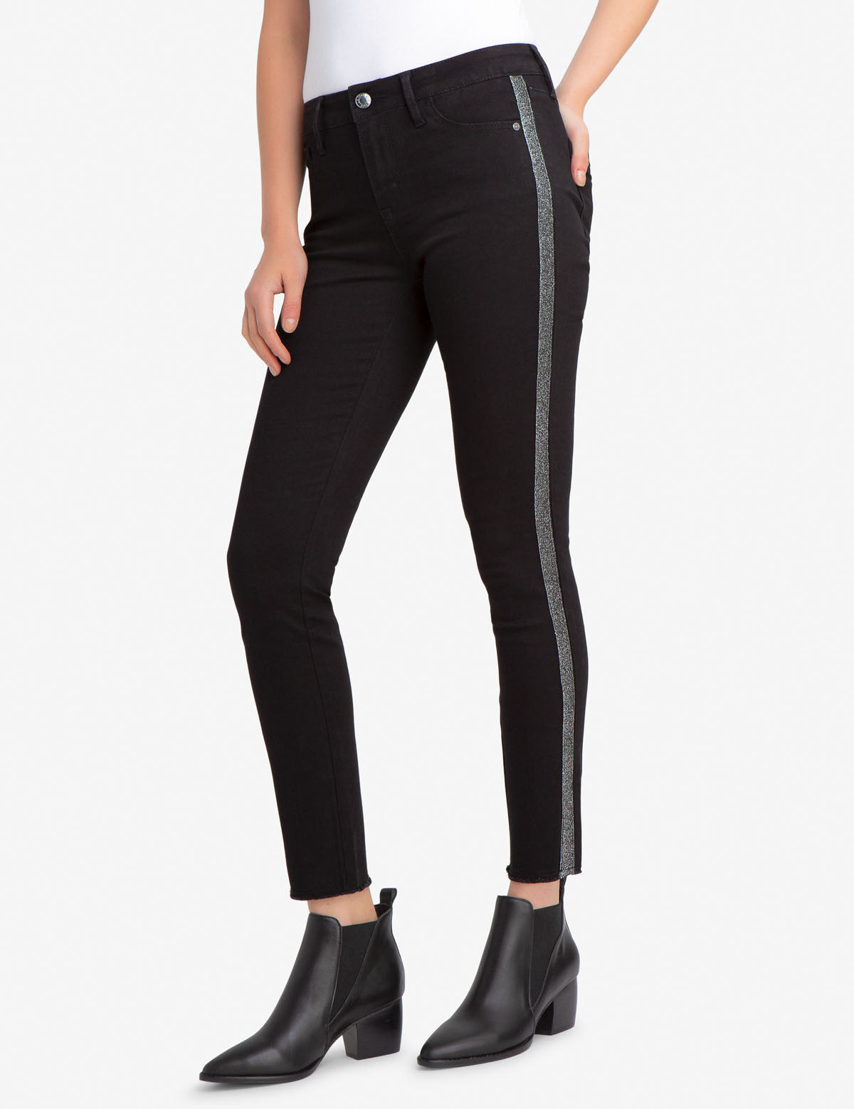 REPREVE® MID RISE SIDE BLING JEGGING