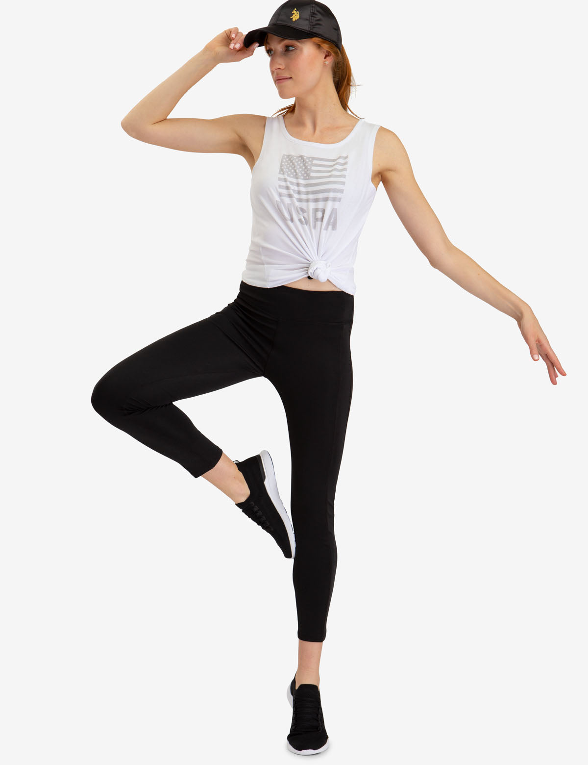 RIBBED KNIT LEGGINGS - U.S. Polo Assn.