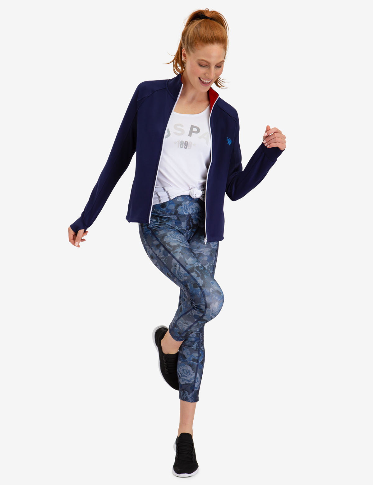 ACTIVE FLORAL LEGGINGS - U.S. Polo Assn.