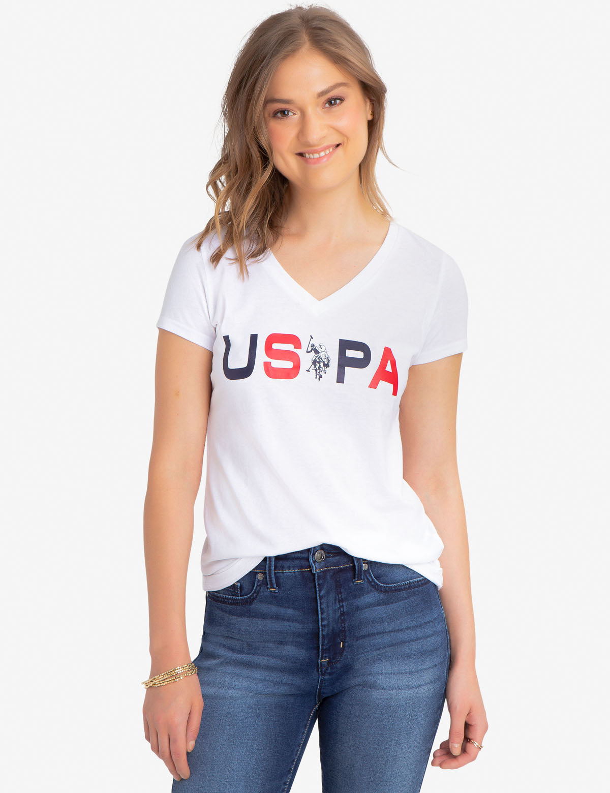 USPA V-NECK T-SHIRT - U.S. Polo Assn.
