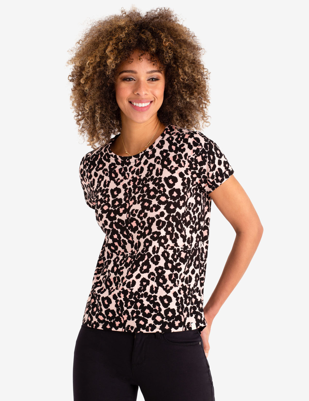 CHEETAH PRINT TEE SHIRT