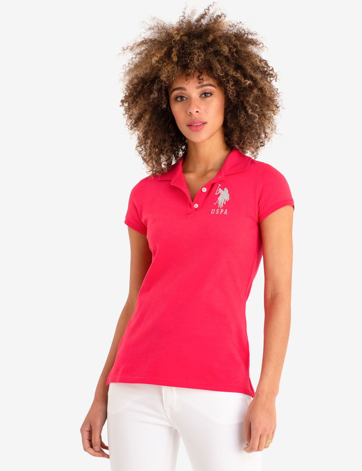 USPA METALLIC PRINT POLO SHIRT