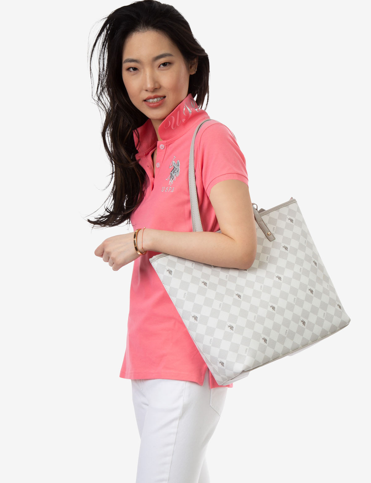 DIAMOND SIGNATURE TOTE BAG - U.S. Polo Assn.