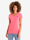 SCALLOP V-NECK T-SHIRT - U.S. Polo Assn.