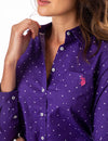 DOT POPLIN LONG SLEEVE SHIRT - U.S. Polo Assn.