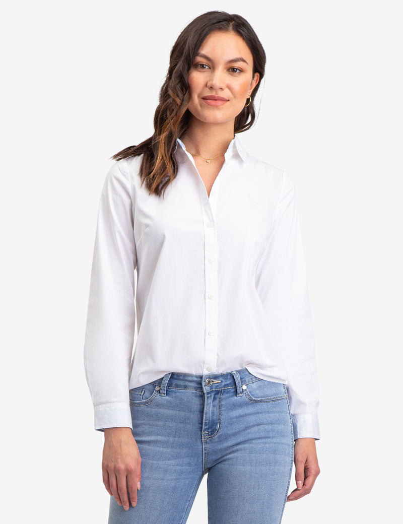 SOLID POPLIN LONG SLEEVE SHIRT