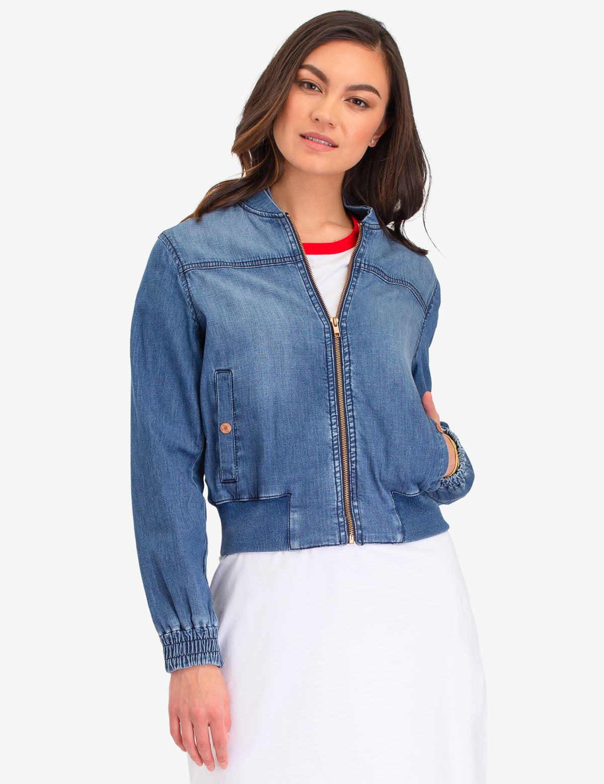 DENIM BOMBER JACKET - U.S. Polo Assn.