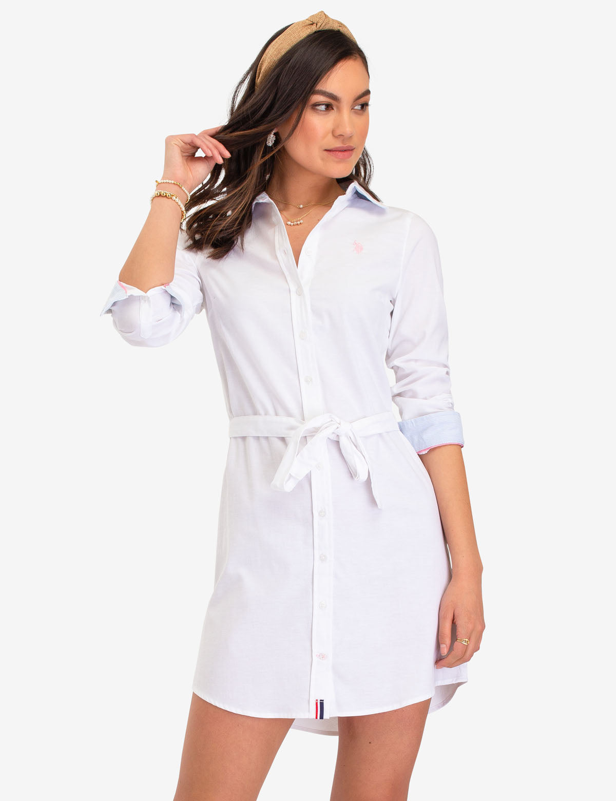 SOLID OXFORD DRESS - U.S. Polo Assn.