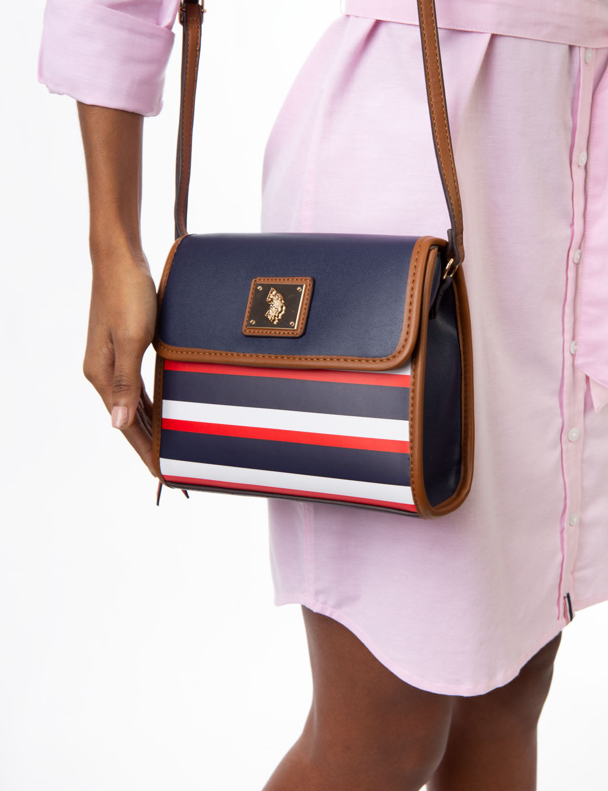 USPA STRIPE CROSSBODY BAG - U.S. Polo Assn.