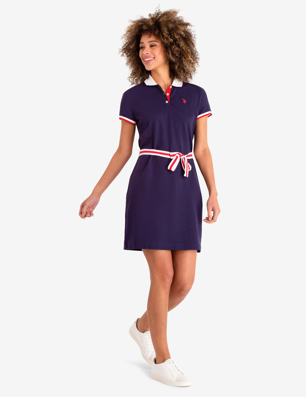 TIE FRONT POLO DRESS - U.S. Polo Assn.