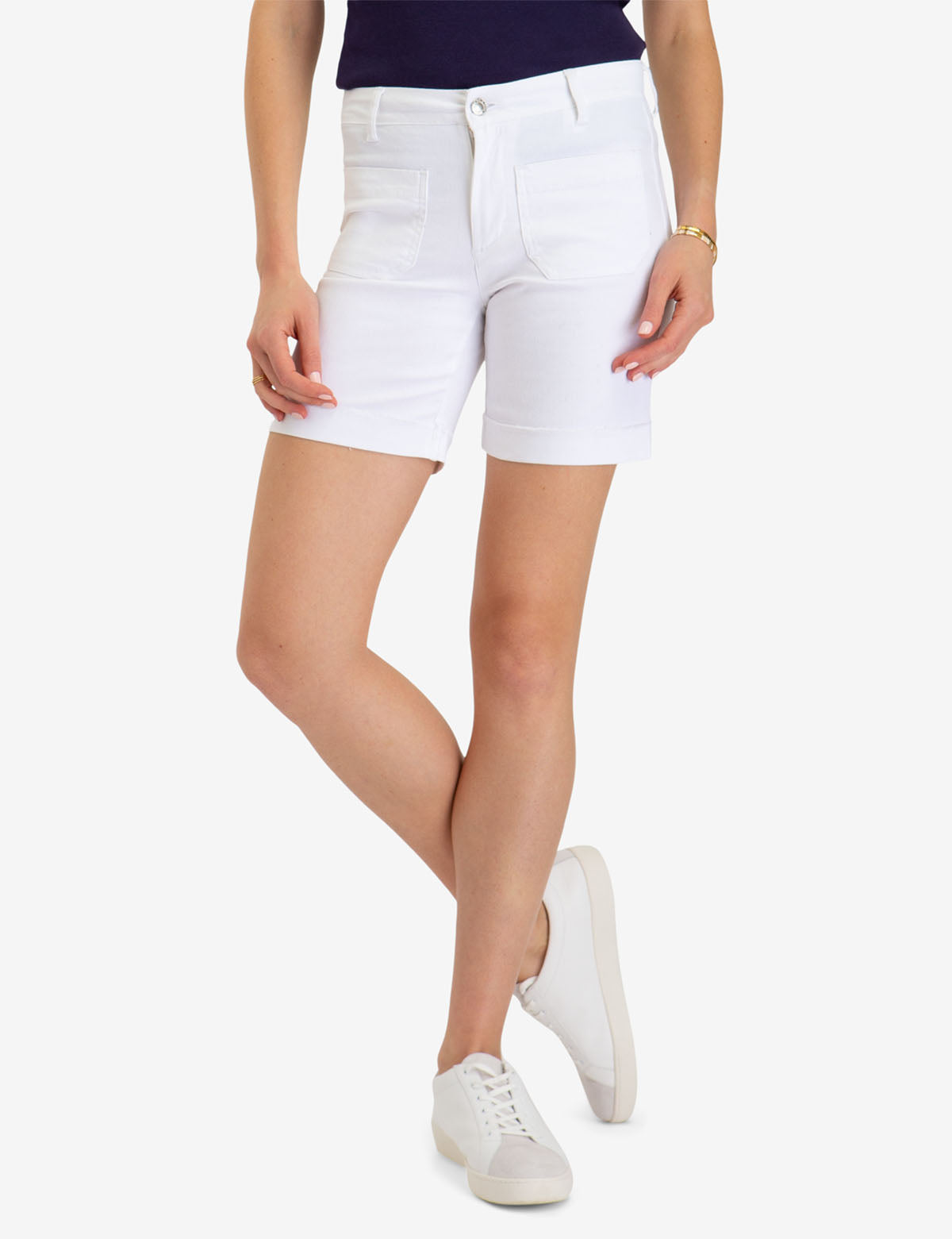 PATCH POCKET WHITE TWILL SHORTS - U.S. Polo Assn.