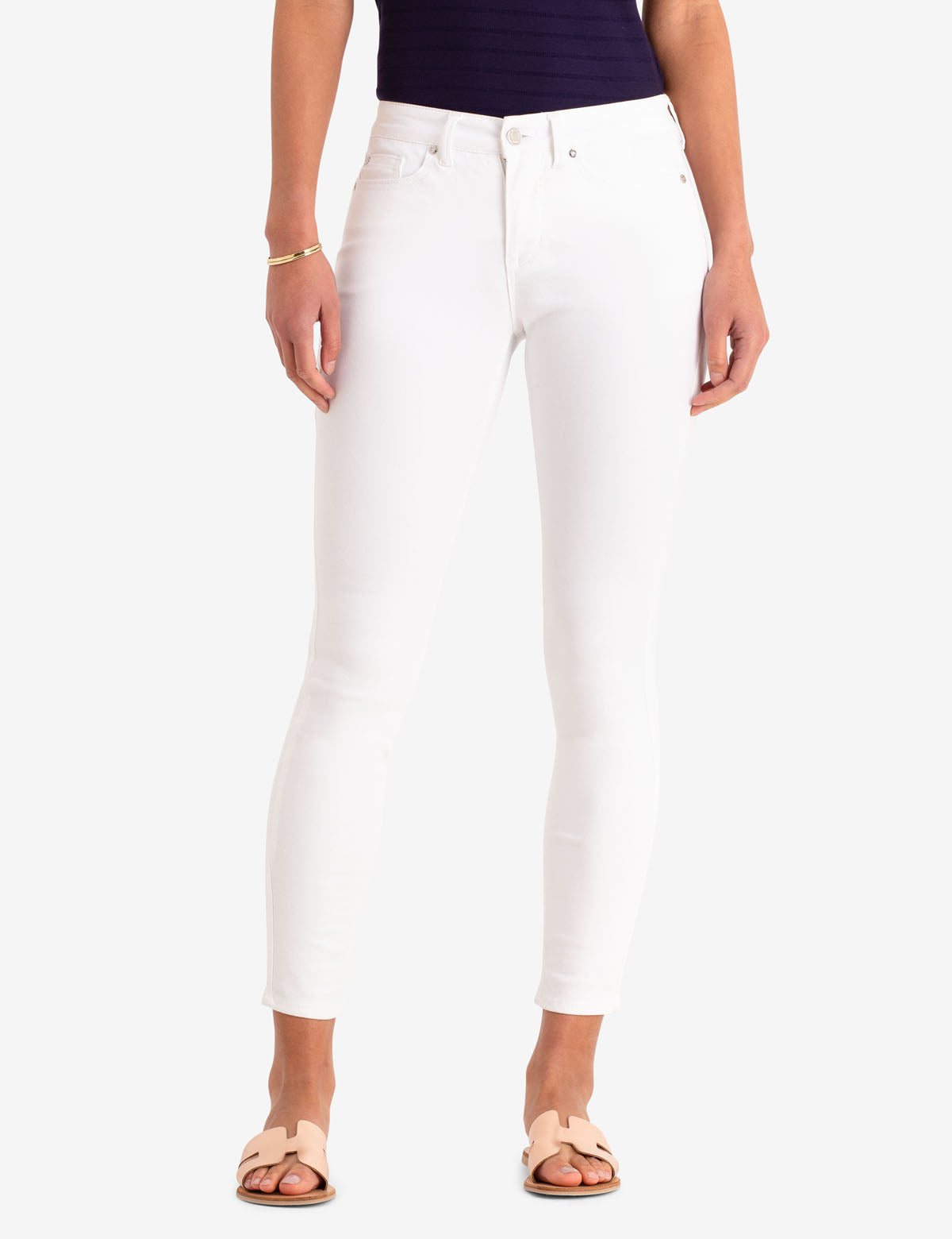 WHITE MID RISE JEGGINGS