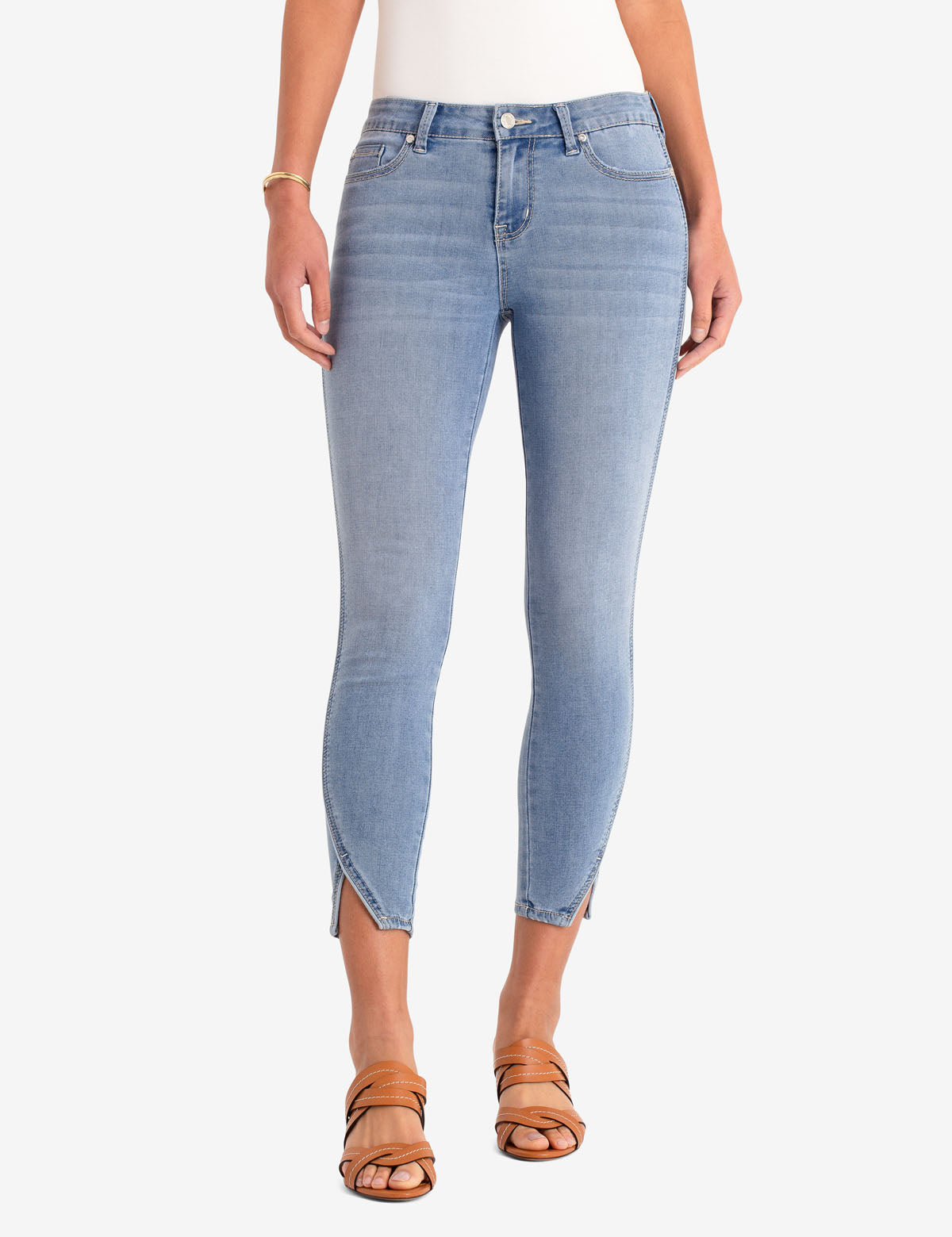 REPREVE® MID RISE CROP JEGGING WITH PIPING - U.S. Polo Assn.