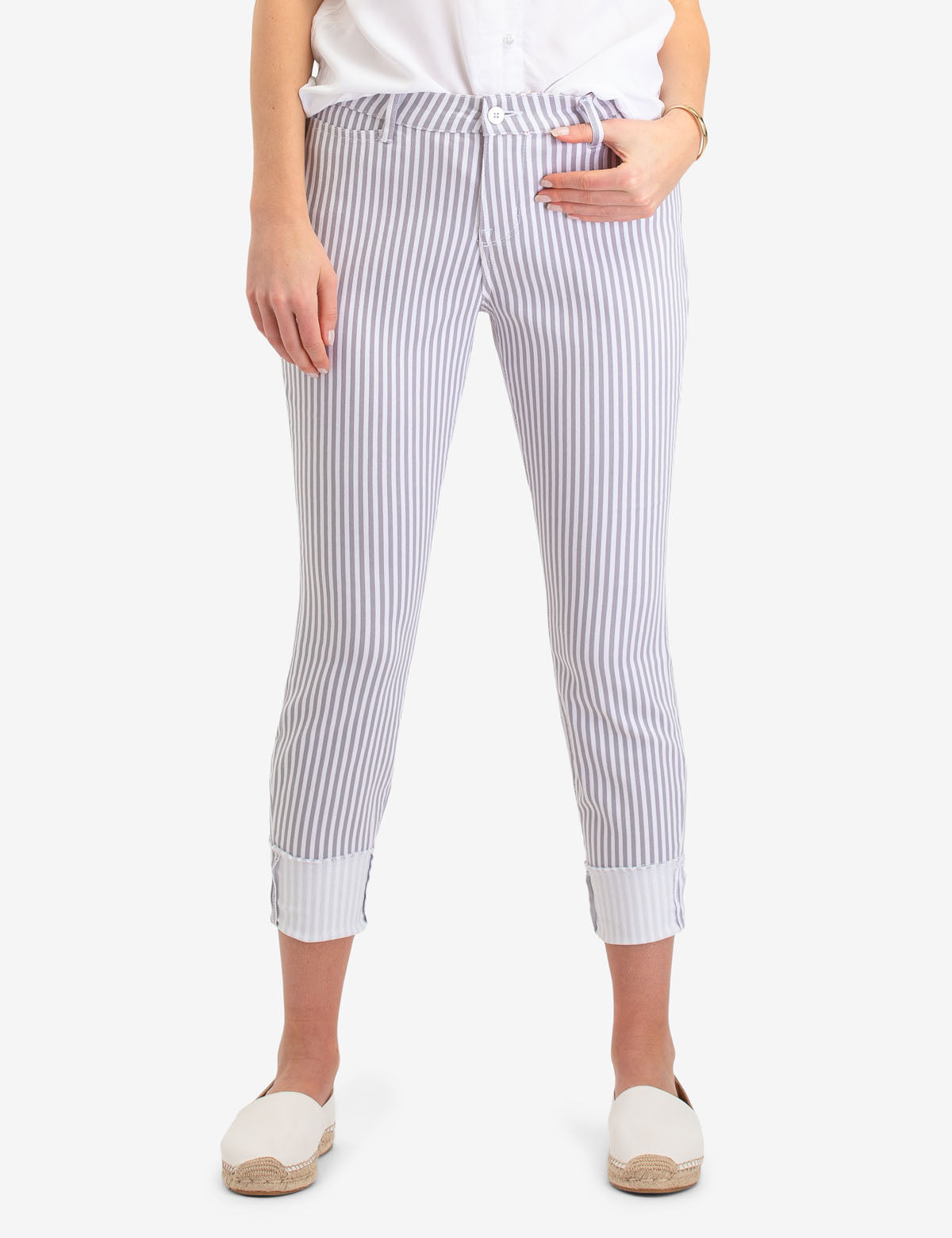 STRIPED CROP JEGGING - U.S. Polo Assn.