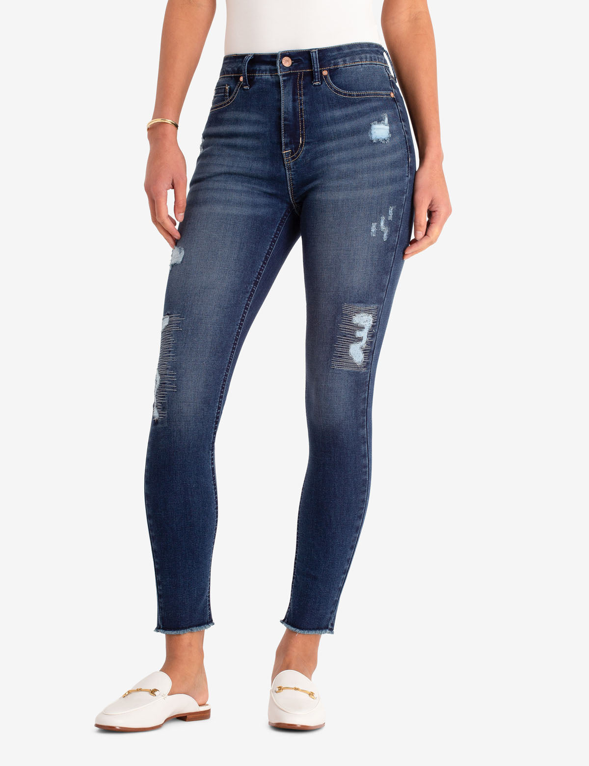 REPREVE® DESTRUCTED HIGH RISE JEGGING - U.S. Polo Assn.