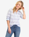 BLUE STRIPED LACE BACK LONG SLEEVE SHIRT - U.S. Polo Assn.