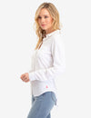 WHITE LACE BACK LONG SLEEVE SHIRT - U.S. Polo Assn.