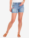 PAINTED FLORAL DENIM SHORTS - U.S. Polo Assn.