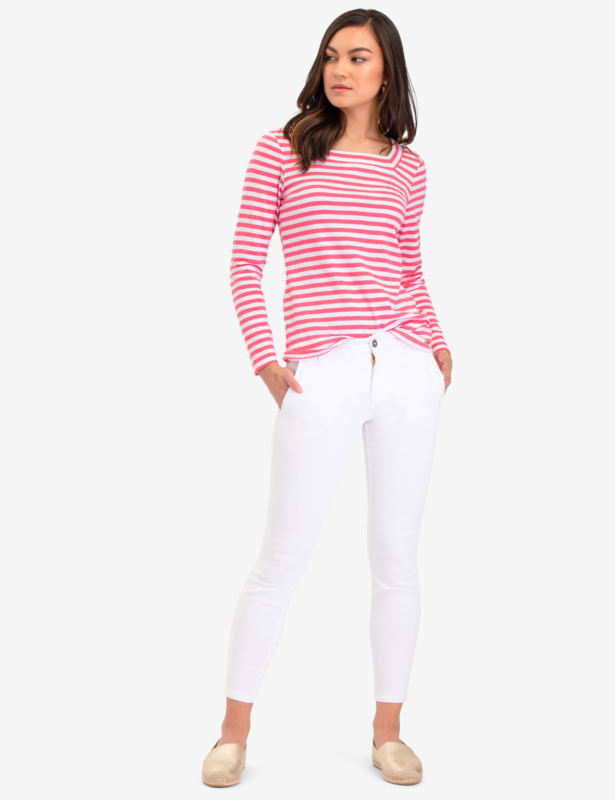 LONG SLEEVE SQUARE NECK STRIPED SHIRT - U.S. Polo Assn.
