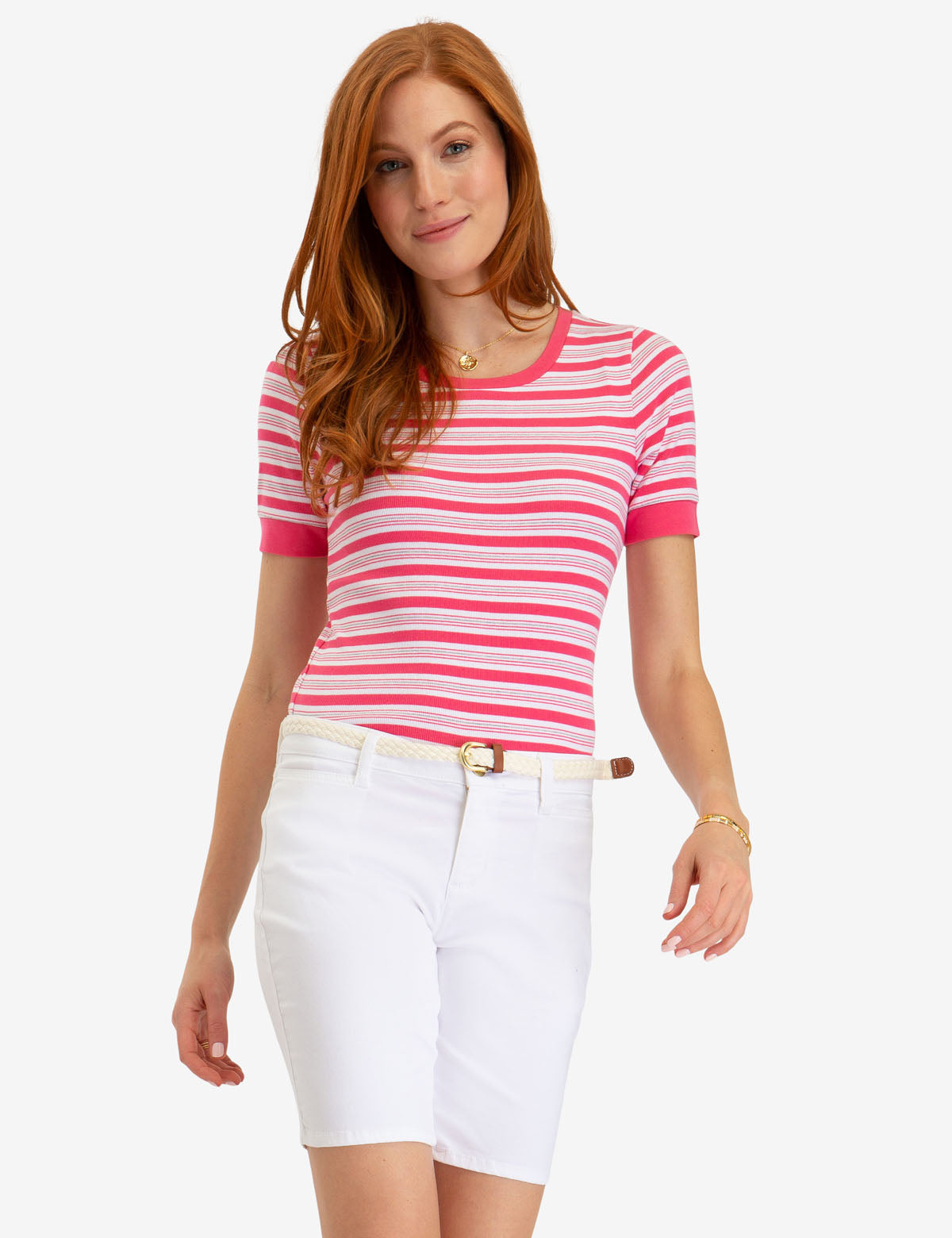 STRIPED RIB TOP - U.S. Polo Assn.