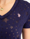 STAR PRINT BURNOUT T-SHIRT - U.S. Polo Assn.