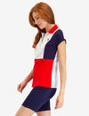 ZIP UP COLORBLOCK POLO SHIRT - U.S. Polo Assn.
