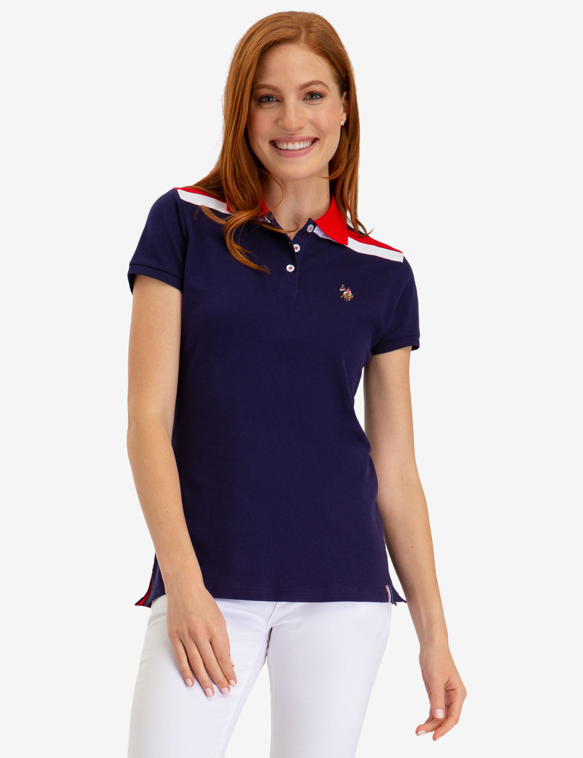 SHOULDER STRIPED POLO SHIRT
