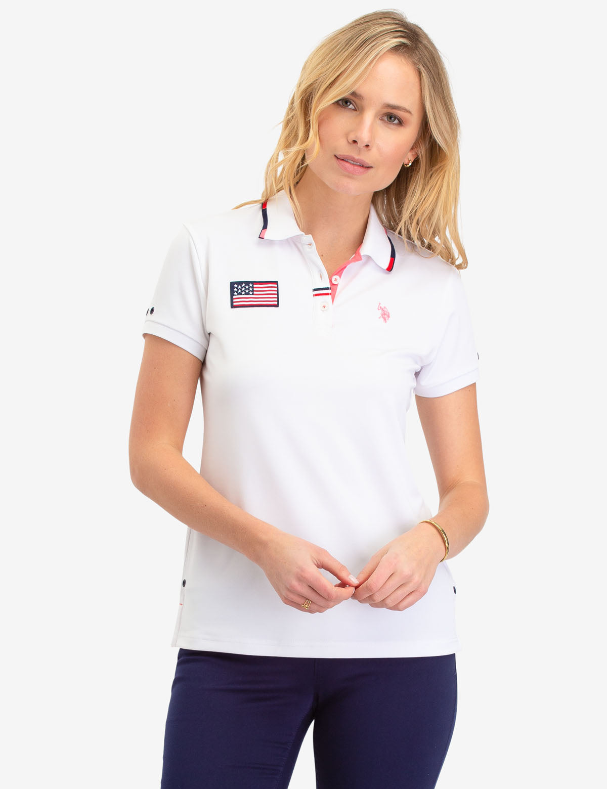CHEST FLAG POLO SHIRT
