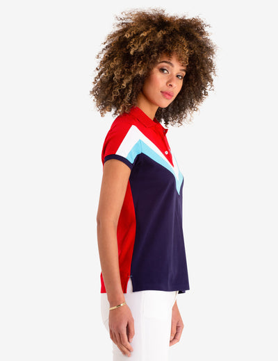 CHEVRON STRIPE POLO SHIRT - U.S. Polo Assn.